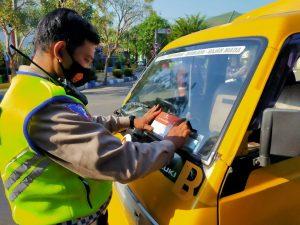 Satlantas Polresta Mojokerto Gandeng Komunitas Pengemudi Untuk Kampanyekan Pakai Masker