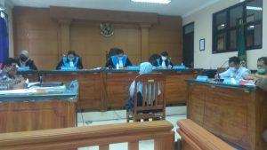 Suasana Sidang PTUN yang menghadirkan dua saksi fakta dan saksi ahli dari Fakultas Hukum UI Jakarta