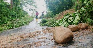 Tebing Setinggi 5 Meter Longsor Jalur Alternatif Lokasi Wisata di Trenggalek Tertutup