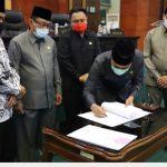 Pendapat Akhir Delapan Fraksi DPRD Kabupaten Jombang Sepakati R-APBD 2021