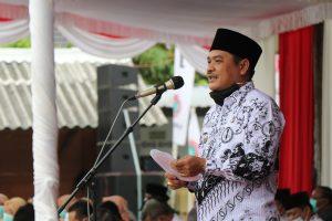 Hari Guru Nasional (HGN) tahun 2020 Wakil Bupati Jombang Sumrambah Pimpin Upacara , Ini Pesanya.
