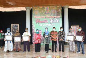 Wabup Jombang Sumrambah Apresiasi Kreator Batik Jombang