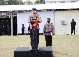 Kapolda Malut Pimpin Upacara Penyambutan Dan Penghantaran Operasi Satgas Amole Tahun 2021
