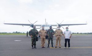 Lanud Leo Wattimena TNI-AU Morotai Gunakan Pesawat Tipe CN-235 Resmi Mendarat Bandara Kuabang Kao Halut