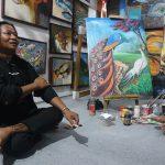 Gus Imm Sentil Pemangku Kebijakan Di Pameran Lukisan Swarna warni
