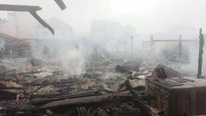 Kebakaran Pasar di Tulungagung Api Cepat Merembet Ke Sejumlah Lapak Pedagang