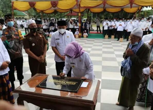 Bupati Jombang Resmikan Masjid di Kantor Dinas Pendidikan