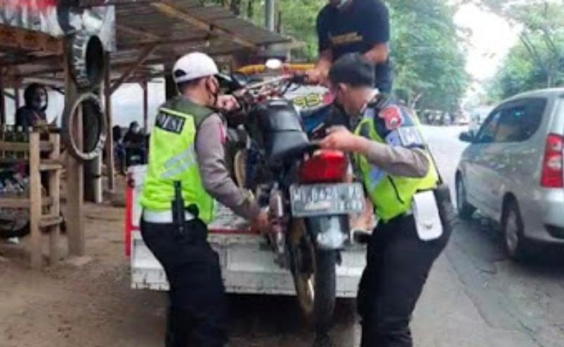 Habis Viral 50 Motor Berknalpot Brong Dipanen Polisi