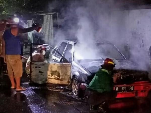 Honda Wonder Ditinggal Tidur Berakhir Hangus Terbakar