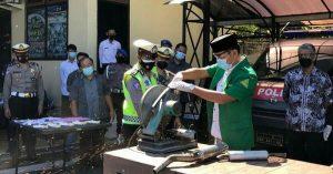 Awal Ramadhan Miras dan Knalpot Brong di Banyuwangi Dimusnahkan