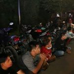 Razia Balap Liar Polres Mojokerto Amankan Ratusan Pemuda