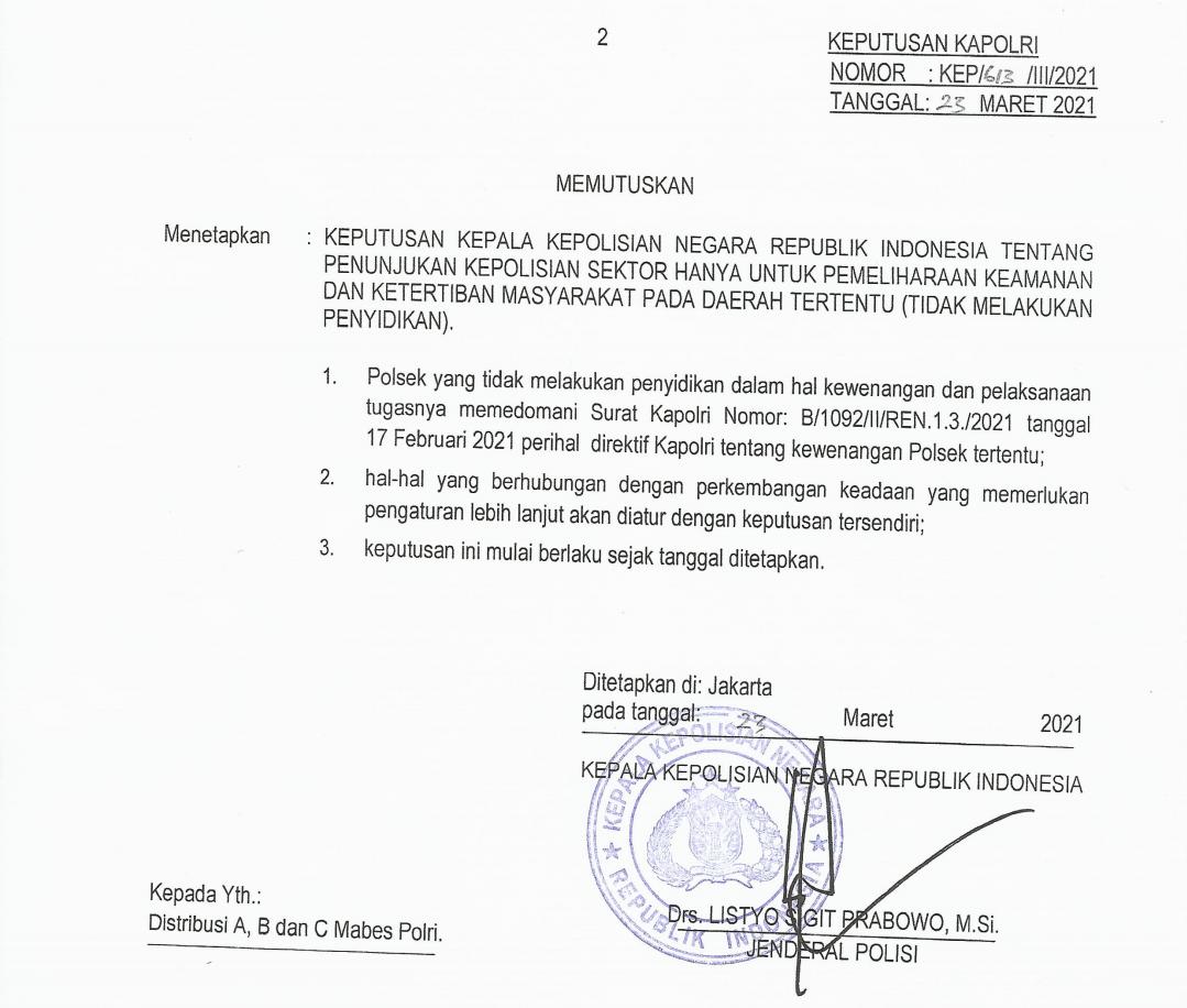 Dua Polsek di Mojokerto Sekarang Tak Bisa Lakukan Penyidikan