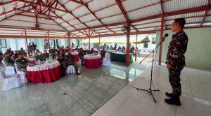 Danrem 152/Babullah Memberikan Sambutan Di Acara Syukuran Kenaikan Pangkat
