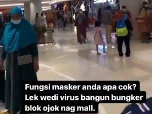 Viral Pria di Surabaya Bodohkan Pengunjung Mal Yang Pakai Masker