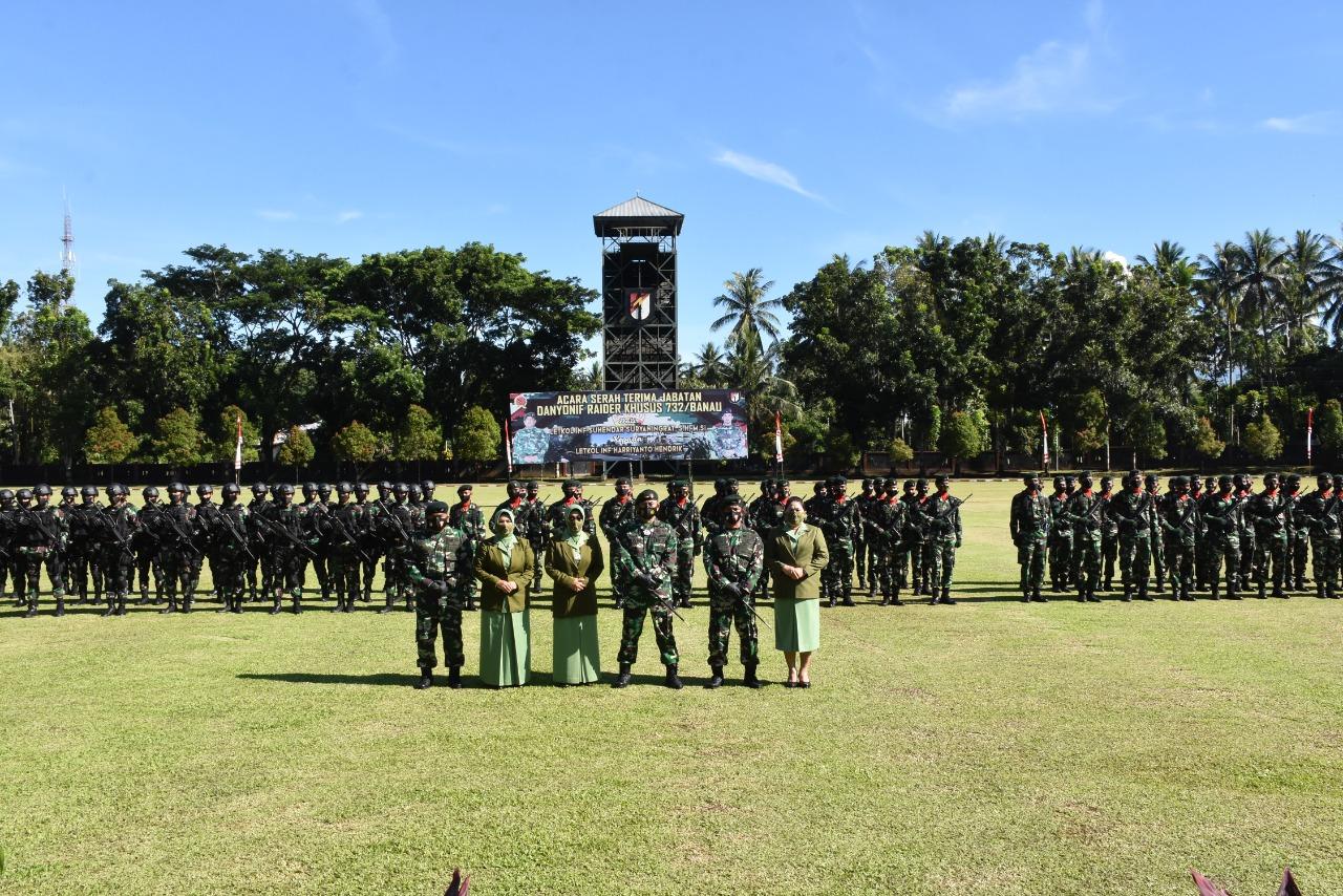 Danrem Pimpin Upacara Serah Terima Jabatan Danyonif Raider Khusus 732/Banau