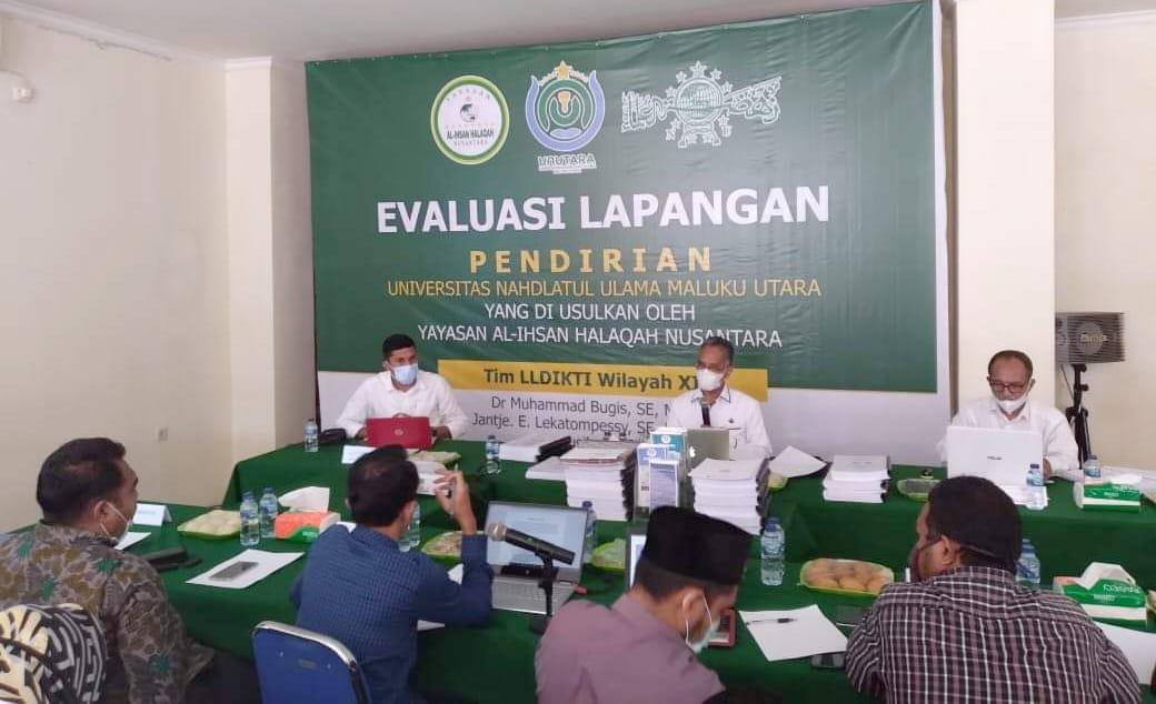 LLDIKTI Wilayah XII Provinsi Maluku-Malut Lakukan Evaluasi Lapangan Kampus Unutara