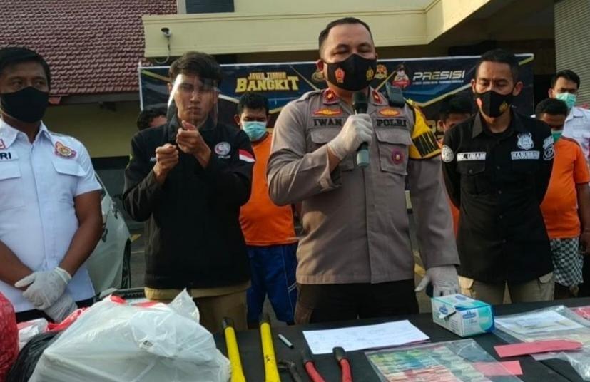 Tim Cyber Polresta Mojokerto Bongkar Sindikat Penjualan Motor Bodong Online
