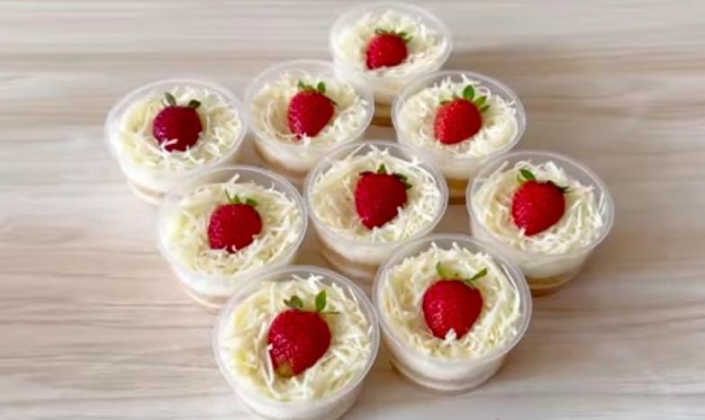Resep cheese Cake Cup Istimewa Menginspiratif