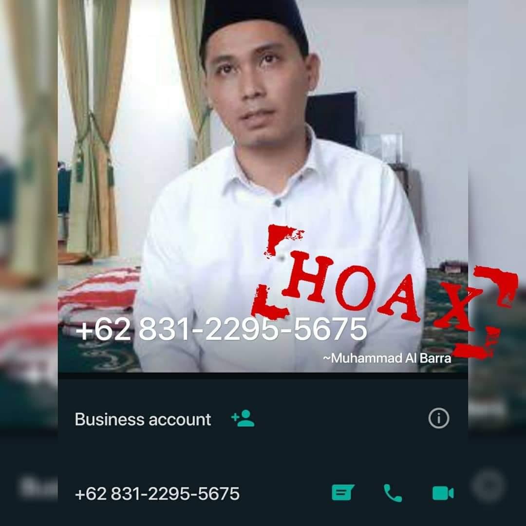 Gus Barra Galang Dana Untuk PonPes Beredar WhatsApp, Dipastikan Hoax