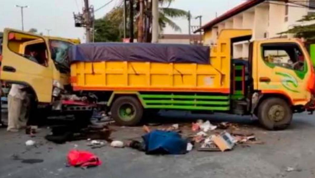 Kecelakaan Maut Libatkan Dum Truk Dan Motor Satu Tewas
