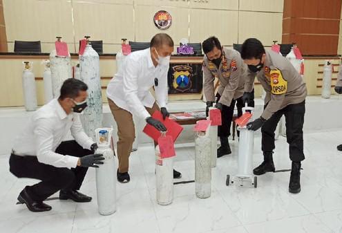 Manfaatkan Situasi, Jual Tabung Oksigen Diatas Rata Rata Du Pria Di Sidoarjo Diamankan