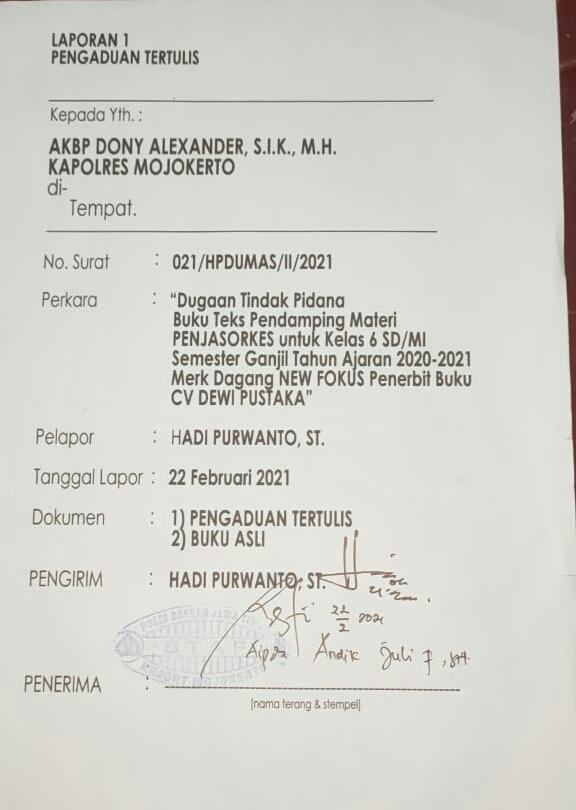 Ratusan Hari Berlalu Kasus Dugaan Pemalsuan ISBN Oleh Anggota Dewan Dinilai Mandeg