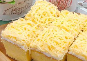 Resep sponge cake keju