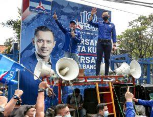 AHY Bersama Kader Demokrat : Waspadai Perusak Demokrasi Kubu Moeldoko Cs