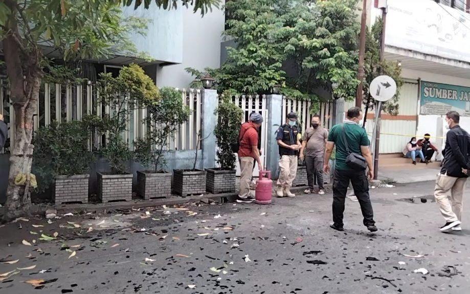 Ledakan di Sentanan Mojokerto
