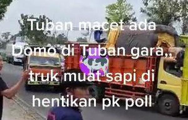 Viral, Para Sopir Truk Luruk Pos Polisi di Tuban Karena Ditilang