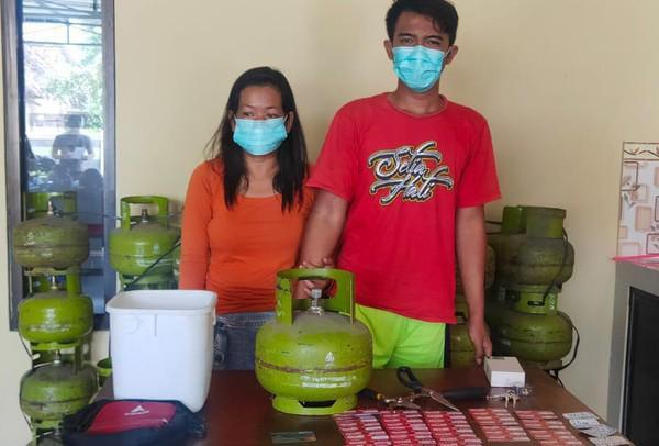 Pencurian Tabung Gas Elpiji, Pasutri, Ponorogo