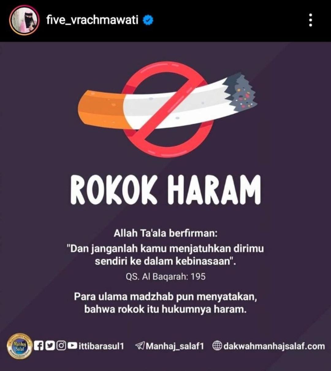 Five Fi Sebut Rokok Haram