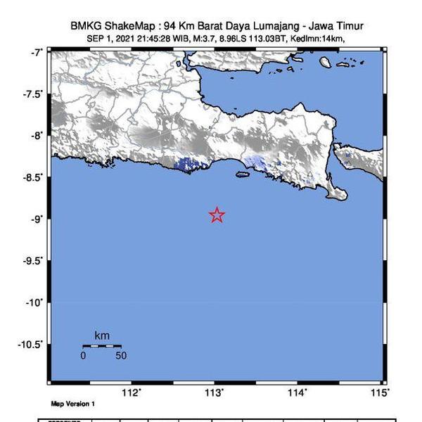 Lumajang Diguncang Gempa M 3.7