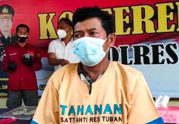 Pelaku Pembunuhan Pria Paruh Baya di Tuban