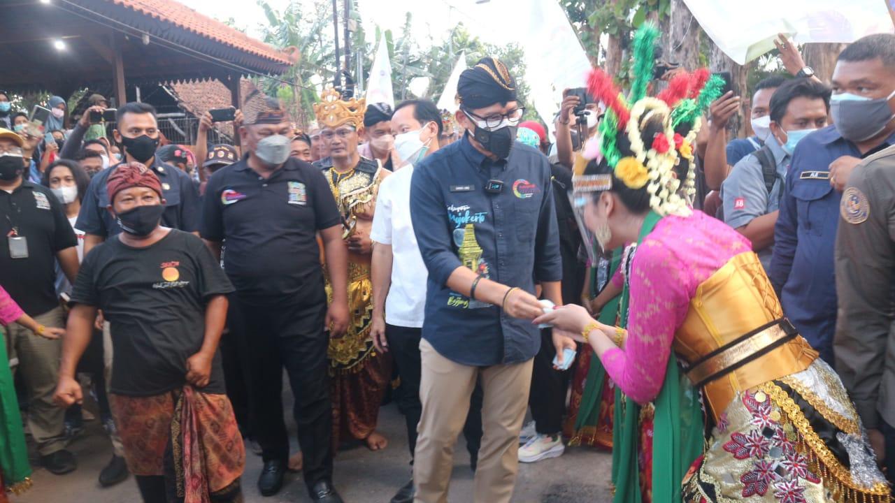 Peresmian ADWI 2021 Oleh Menparekraf Sandiaga Uno Di Mojokerto