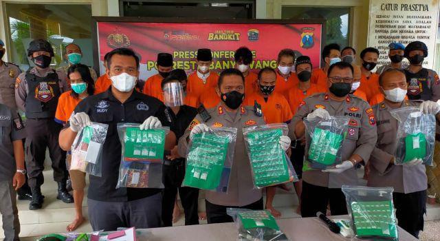 Polres Banyuwangi Berhasil 48 Kasus Narkoba Selama Operasi Tumpas Semeru 2021