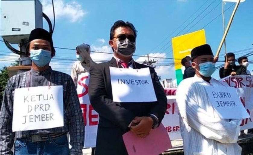 demo mahasiswa, demo tolak tambak dan tambang, DPRD Jember