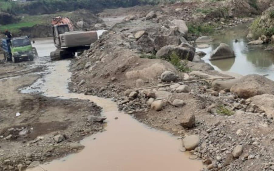 Galian C di Gondang, galian Masuk Sungai, BBWS Brantas