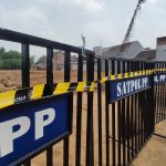 Tak Berijin, Pembangunan Perumahan di Suromurukan Kota Mojokerto Dihentikan Satpol PP