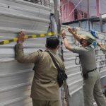 Tak Kantongi IMB Pembangunan Ruko di Mojokerto Dihentikan Paksa Satpol PP